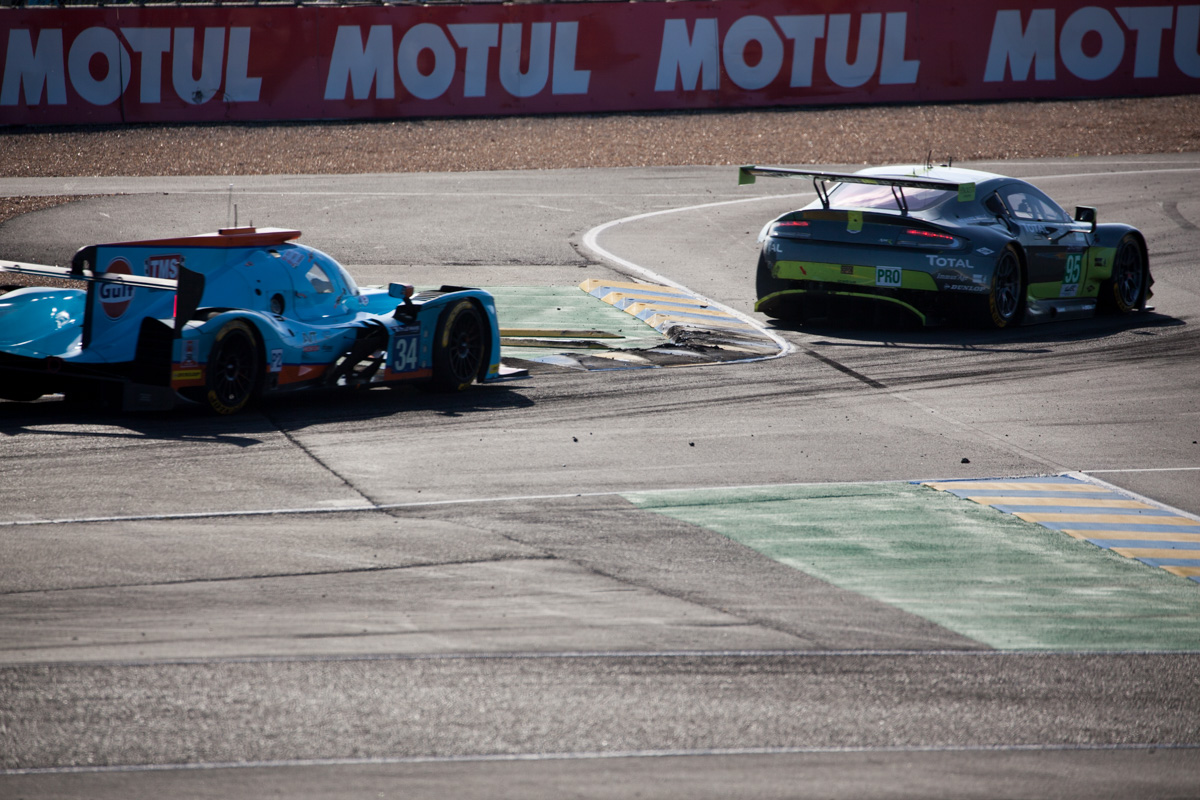 Intersection aston martin gte le mans