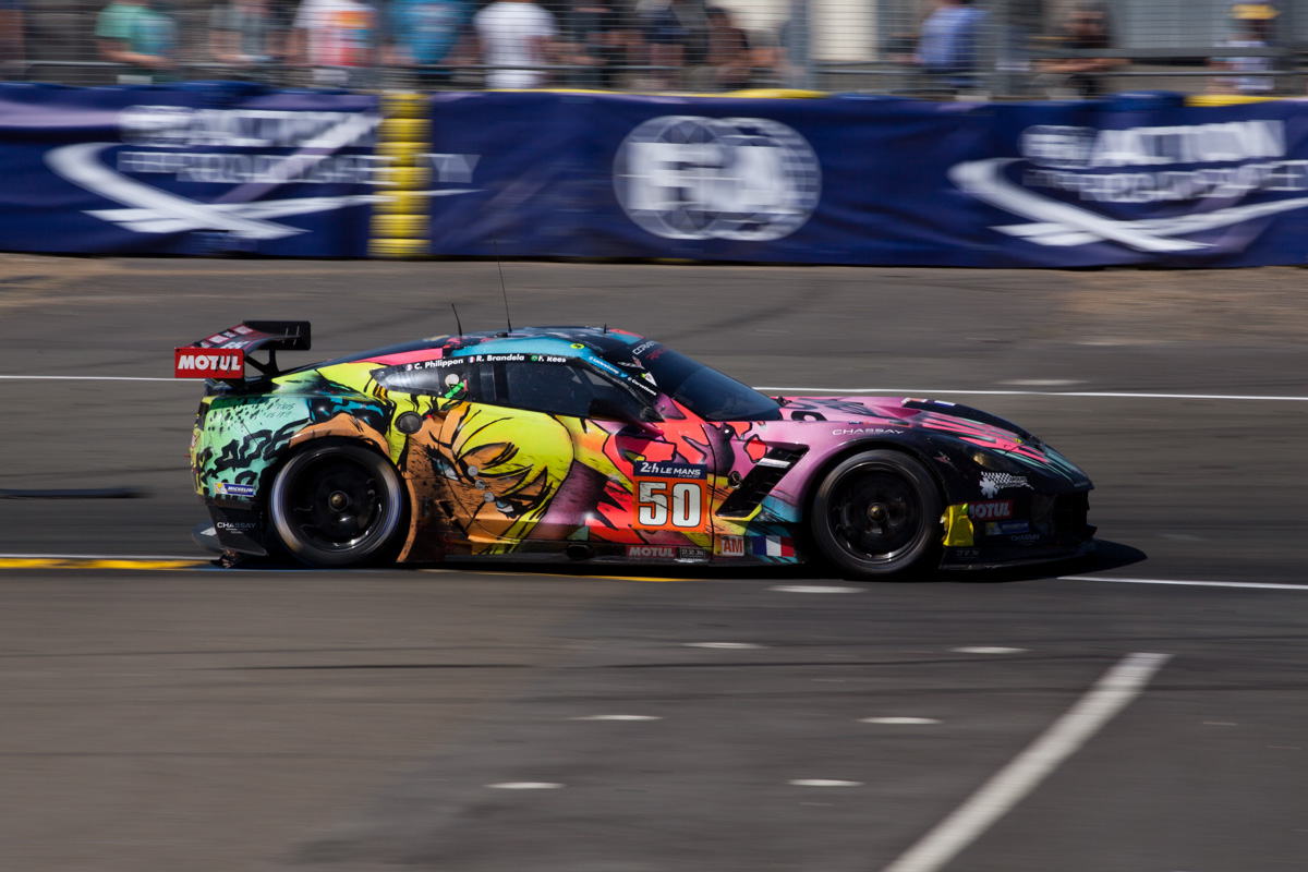 intersection corvette Z07 art car